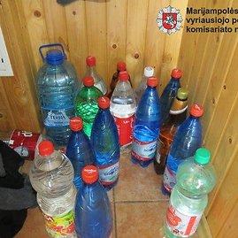 Kalvarijos PK nuotr./Naminė degtinė