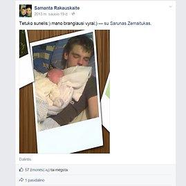 """""""Facebook"""" nuotr./""""Tetuko sūnelis. Mano brangiausi vyrai"""", – socialiniame tinkle rašė Samanta."""