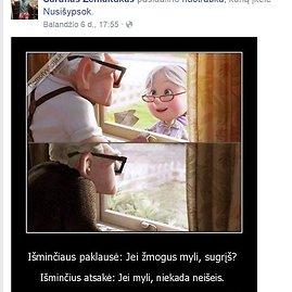 """""""Facebook"""" nuotr./Šarūno Žemaičio profilyje"""