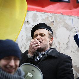 Eriko Ovčarenko/15min.lt nuotr./Neteisėtas nacionalistų mitingas Kaune