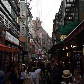 Asmeninio albumo nuotr./Pietų Korėjos gatvė