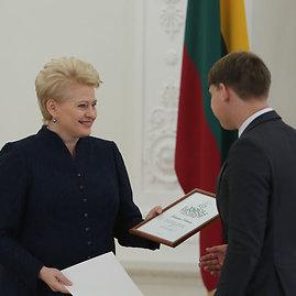 Juliaus Kalinsko/15min.lt nuotr./Dalia Grybauskaitė ir Donatas Kriukas