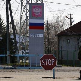 """""""Reuters""""/""""Scanpix"""" nuotr./Ukrainos ir Rusijos pasienio punktas"""