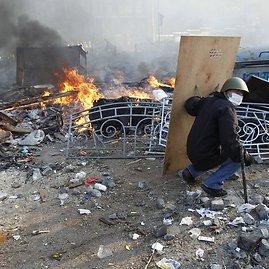 """""""Reuters""""/""""Scanpix"""" nuotr./Protestuotojas Kijeve"""