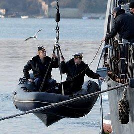 """AFP/""""Scanpix"""" nuotr./Jūreiviai Ukrainos kariniame laive """"Ternopil"""""""