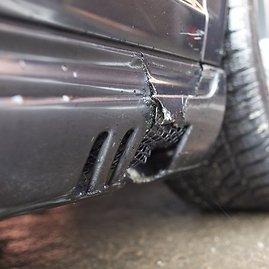 """Irmanto Gelūno/15min.lt nuotr./Audriaus eismo įvykyje nukentėjęs """"Mercedes-Benz S55 AMG"""""""