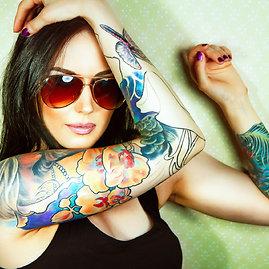 """Fotolia"" nuotr./Tatuiruota mergina"