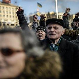 """AFP/""""Scanpix"""" nuotr./Kijevo Nepriklausomybės aikštėje"""