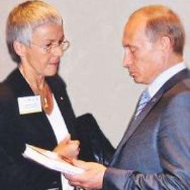 Vokietijoje V.Putiną šlovinanti G.Krone-Schmaltz ir V.Putinas