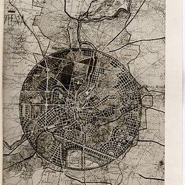 1931 m. Vilniaus plano nuotrauka, saugoma Lietuvos centriniame valstybės archyve.