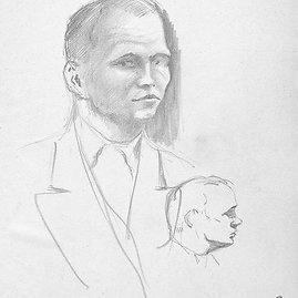 Januszo Tłomakowskio autoportretas. Saugoma Paryžiaus Est Créteil Val de Marne universitete.