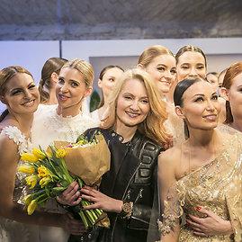 """Viganto Ovadnevo/Žmonės.lt nuotr./""""Ingrid Inži"""" vestuvinių suknelių kolekcijos modeliai"""