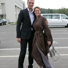 Gretos Skaraitienės/Žmonės.lt nuotr./Neringa Skrudupaitė su vyru Dariumi