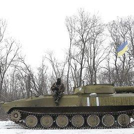 """""""Scanpix""""/AP nuotr./Ukrainos kariai prie Debalcevės"""
