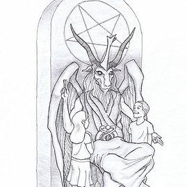 Šėtono šventyklos vizualizacija/Statula Šėtonui