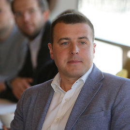 Juliaus Kalinsko/15min.lt nuotr./Lietuvos teniso sąjungos prezidentas Ramūnas Grušas