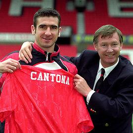 "AFP/""Scanpix"" nuotr./Ericas Cantona ir Alexas Fergusonas 1992 m."