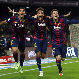 """Reuters""/""Scanpix"" nuotr./Luisas Suarezas, Neymaras, Lionelis Messi"