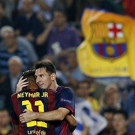 """""""Reuters""""/""""Scanpix"""" nuotr./Neymaras ir Lionelis Messi"""