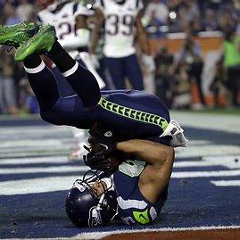 """""""Scanpix""""/AP nuotr./""""Super Bowl"""" rungtynės tarp Naujosios Anglijos """"Patriots"""" ir Sietlo """"Seahawks"""""""