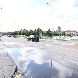 Upės gatvėje ties Baltuoju tiltu projektuojama šviesoforais reguliuojama perėja