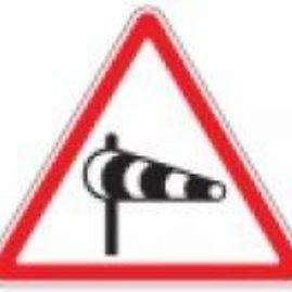 Įspėjamasis kelio ženklas – šoninis vėjas