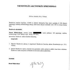 """15min nuotr./UAB """"Baltijos vėjas"""" savininkės sprendimas"""