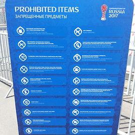 Mariaus Bagdono nuotr./Draudžiamų į stadioną įsinešti daiktų sąrašas – ilgas