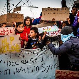 Vidmanto Balkūno/15min.lt nuotr./Idomeni (Graikija) pabėgėlių stovykla