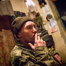 Vidmanto Balkūno/15min.lt nuotr./Marjinkos priešakinėse pozicijose gyvenantis kareiva Tančikas