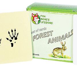 """Projekto partnerio nuotr./kortelių rinkinys """"Miško gyvūnai"""""""