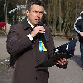 Ukrainos palaikymo akcija Druskininkuose