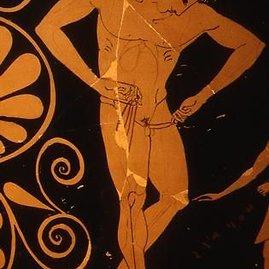 """Antikinis sportininkas riša """"kynodesme"""", 1200 m. pr. Kr. – 350 m."""