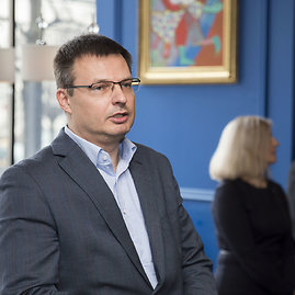 """Žygimanto Gedvilos / 15min nuotr./ """"Vilniaus viešojo transporto"""" generalinis direktorius Gintaras Maželis"""