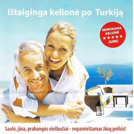 """Bendrovės """"Eastcon"""" lankstinukas/Viliojantis pasiūlymas – nemokama kelionė į Turkiją"""