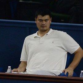"""""""Scanpix"""" nuotr./Yao Mingas stebėjo Novako Džokovičiaus mačą"""