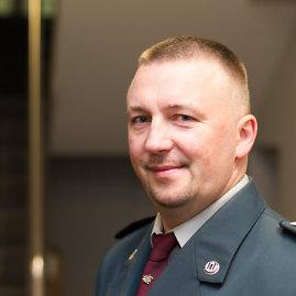 Irmanto Gelūno/15min.lt nuotr./Nusikaltimų nuosavybei tyrimo skyriaus viršininkas Sigitas Šemis.