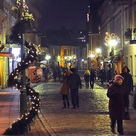 Kalėdiškai pasipuošęs Kaunas