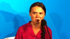 """Sensacija tapusi G.Thunberg kalba vėl užkariavo internetą – muzikantas ją pavertė """"mirties metalo"""" dainininke"""