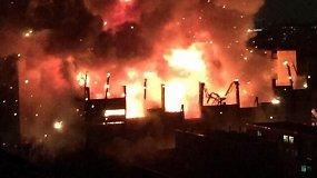 Didžiulis gaisras Maskvoje, Tušino mašinų gamykloje