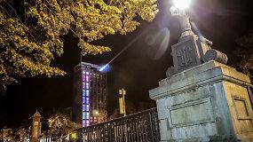 Ant Klaipėdos valstybinio muzikinio teatro bokšto buvo įžiebtas švyturys