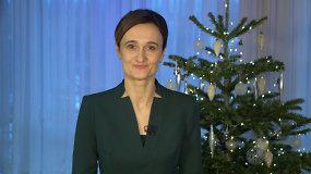 Seimo Pirmininkės sveikinimas šv. Kalėdų proga