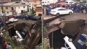 Sugriuvus savadarbiui tiltui, rusai skubėjo gelbėti automobilius