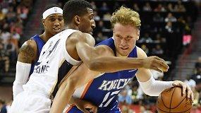"""NBA žurnalistų užgriūtas I.Brazdeikis užstojo kritikuojamą """"Knicks"""" viltį"""