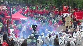 Protestai Briuselyje sutraukė tūkstančius žmonių