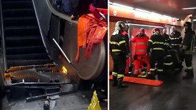 Nelaimė Romoje:  įgriuvus eskalatoriui rimtai sužeisti daugiau kaip 20 futbolo sirgalių
