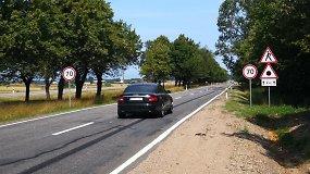 Nelygus kelias A13, važiuojant iš Klaipėdos į Palangą