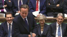D.Cameronas atsisveikino su Jungtinės Karalystės premjero postu