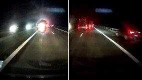 Nufilmuota, į kokius spąstus pateko autobusas: avarija buvo neišvengiama