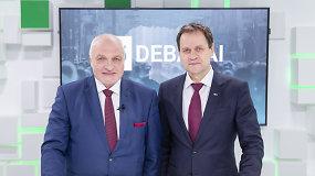 15min studijoje – prezidento posto siekiančių V.Mazuronio ir V.Tomaševskio debatai